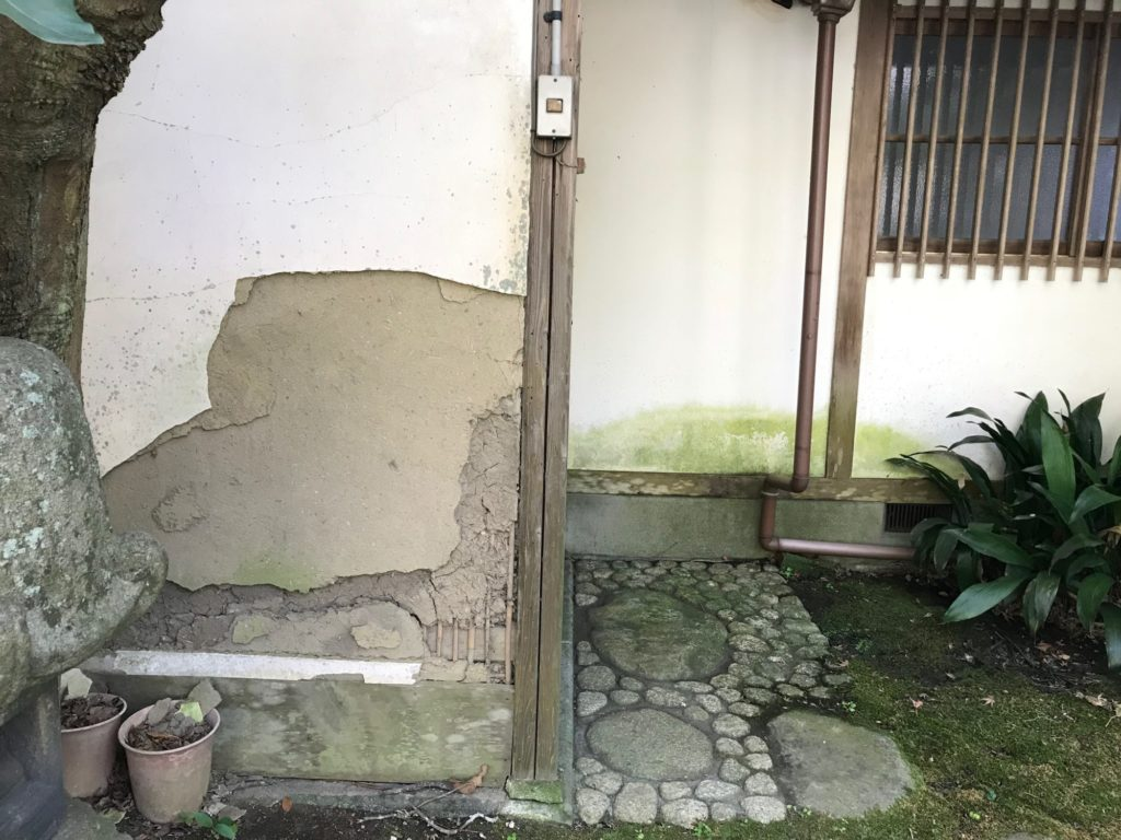 山本条太郎別荘壁