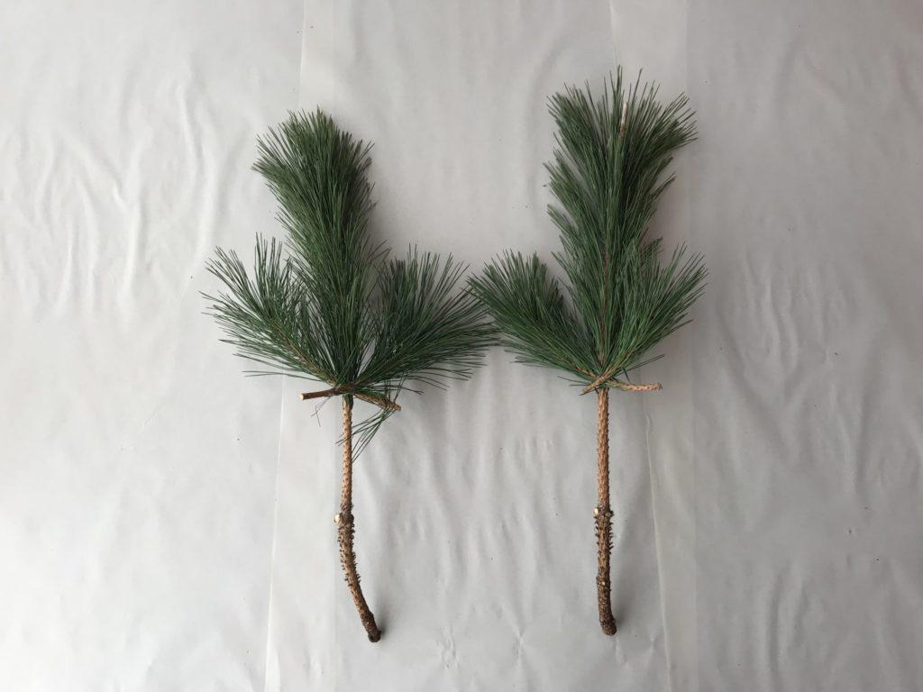 小さい枝のとりつけ
