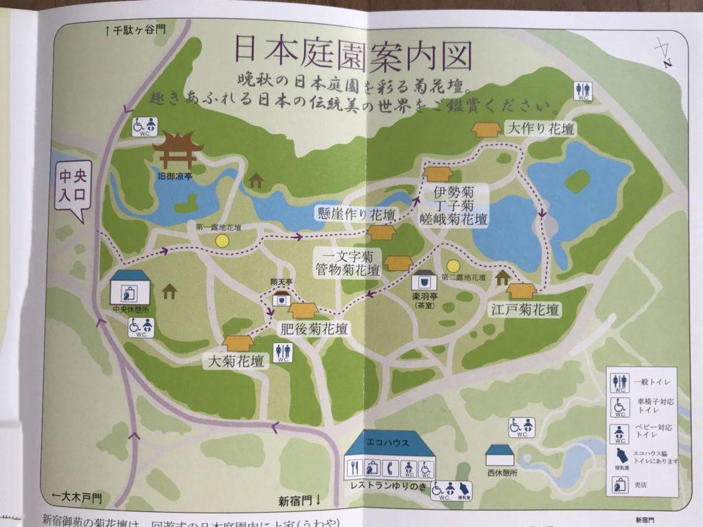菊花壇展地図