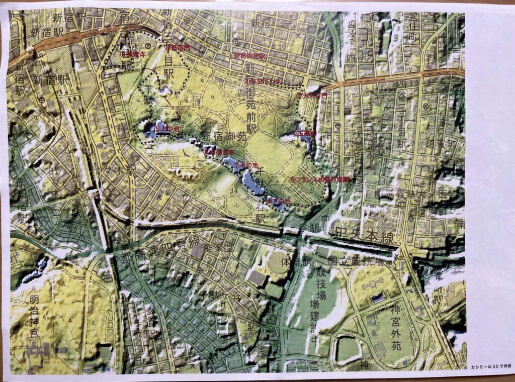 新宿御苑 3D地図